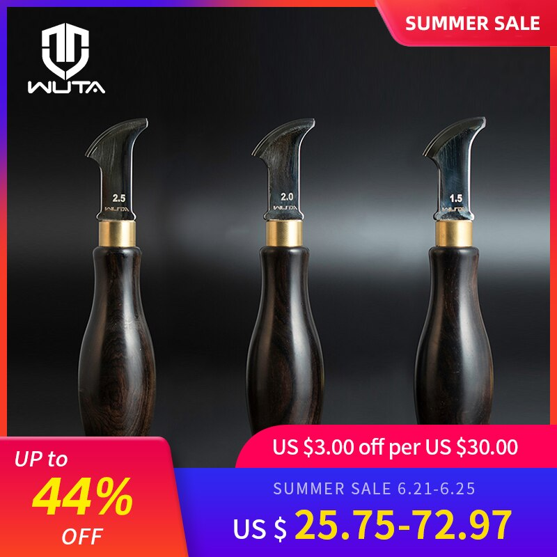 WUTA High Quality Leather craft diy tools Edge Creaser Stainless Steel  Edge Decorate Line Leathercraft Tools
