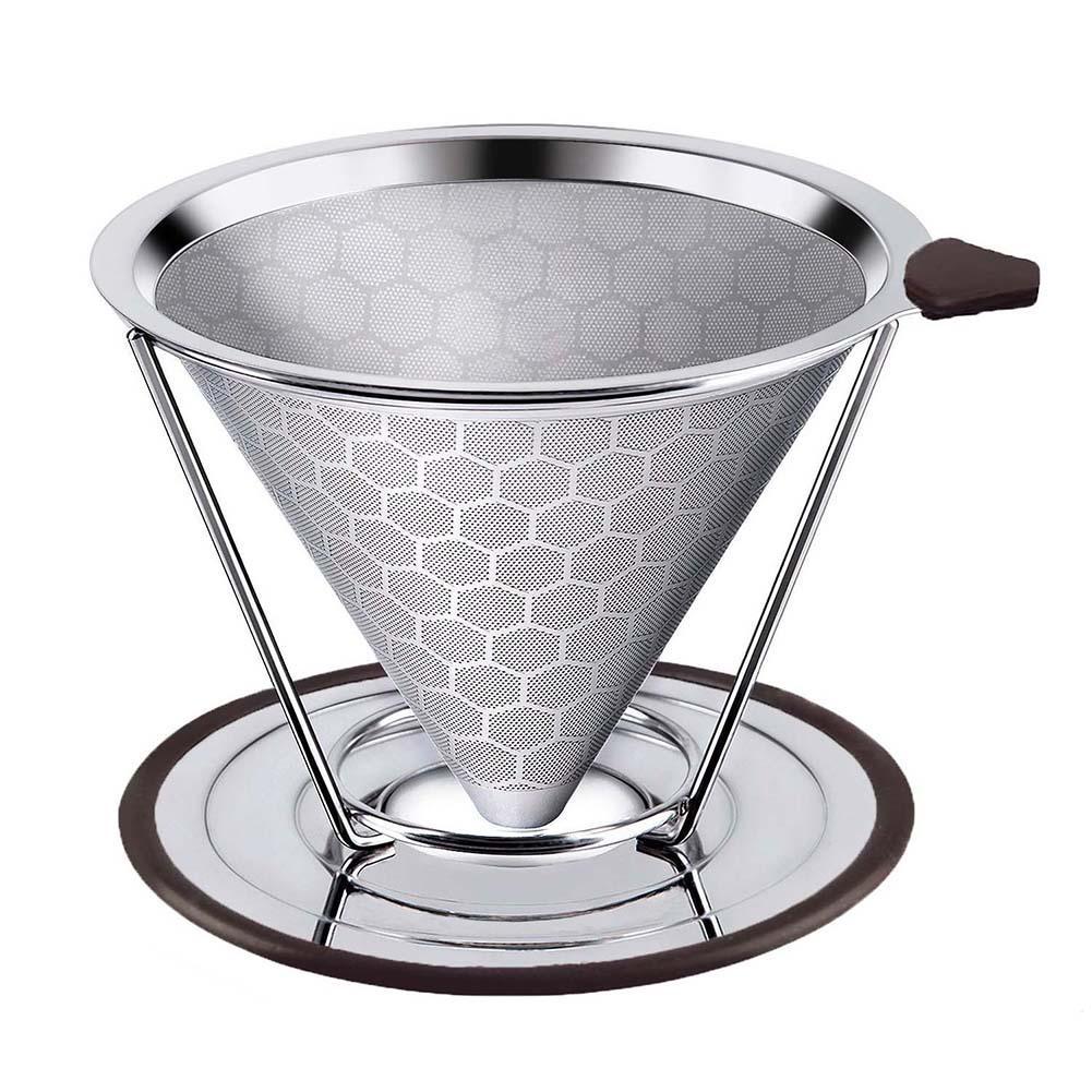 Многоразовый фильтр для кофе, прочный держатель из нержавеющей стали, сетчатая воронка, корзины, фильтр для кофе, Налейте капельницу, фильтр для кофе, инструмент