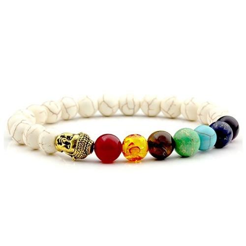 7 Chakra A Tiger Eye Beaded Bracelet Unisex Christmas New Year Gift Mala 108 Buddha Healing Man Stone Beaded Bracelet