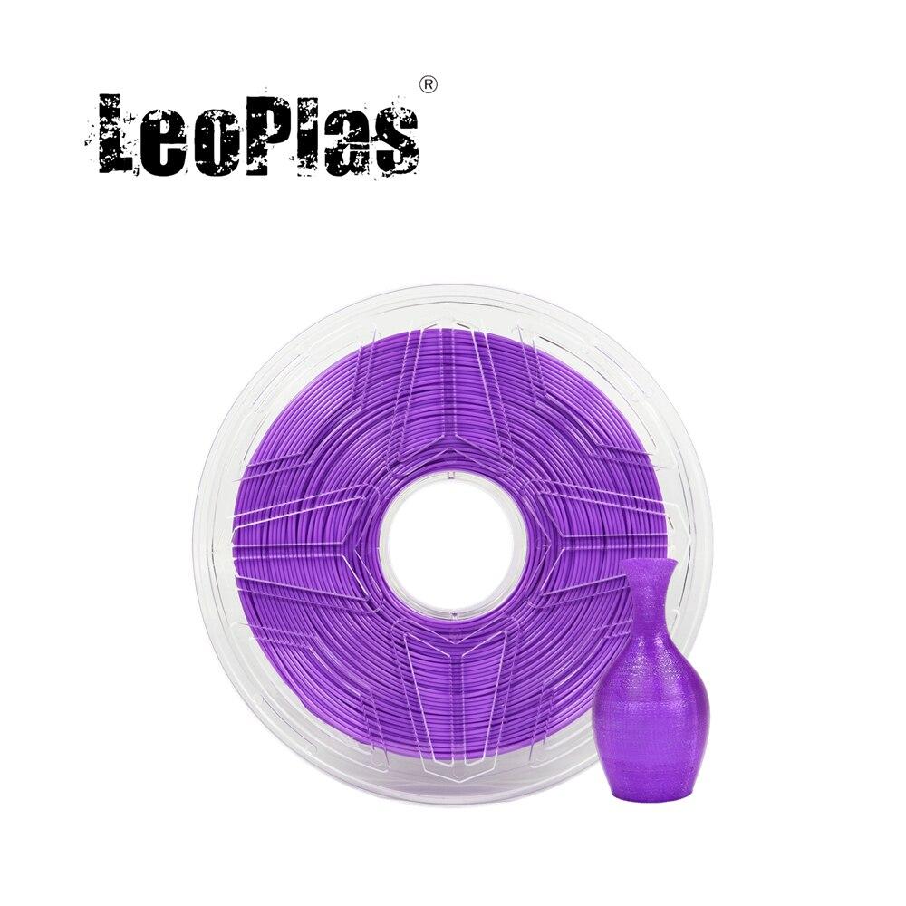 LeoPlas 1 كجم 1.75 مللي متر مرنة لينة الأرجواني خيوط بولي يوريثان ل FDM طابعة ثلاثية الأبعاد القلم المواد الاستهلاكية لوازم الطباعة المواد المطاطية