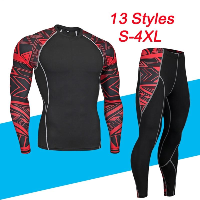 Комплект мужского термобелья, теплые облегающие длинные рубашки и топы, базовый слой мотоцикла, костюм с футболкой и брюками, зимний