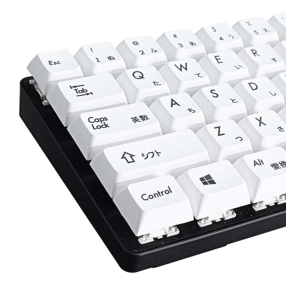 1 مجموعة XDA ارتفاع كيكابس بسيطة الأبيض اليابانية الميكانيكية لوحة المفاتيح غرار Keycap عدة PBT التسامي كامل لوحة المفاتيح قبعات