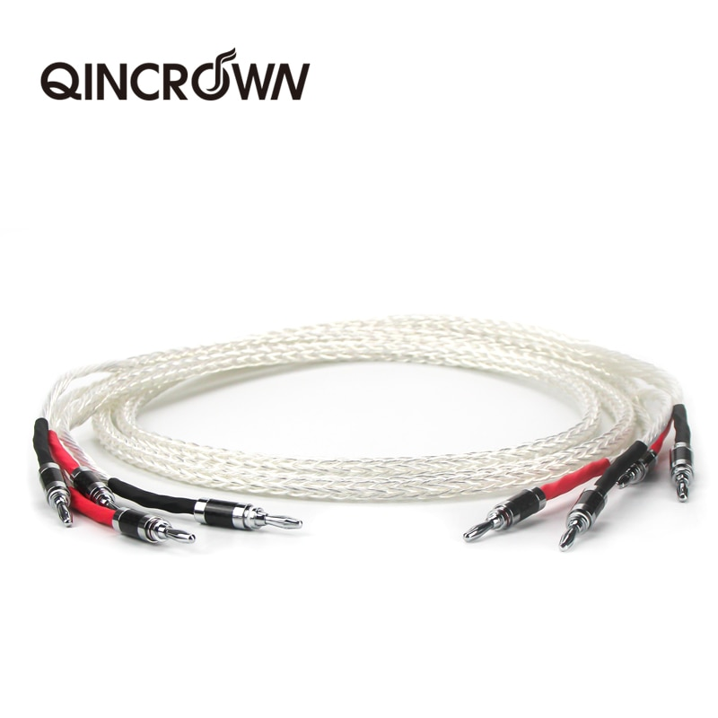 Prata-bandido occ alto-falante de alta fidelidad cabo hi-end fio para amplificador e...