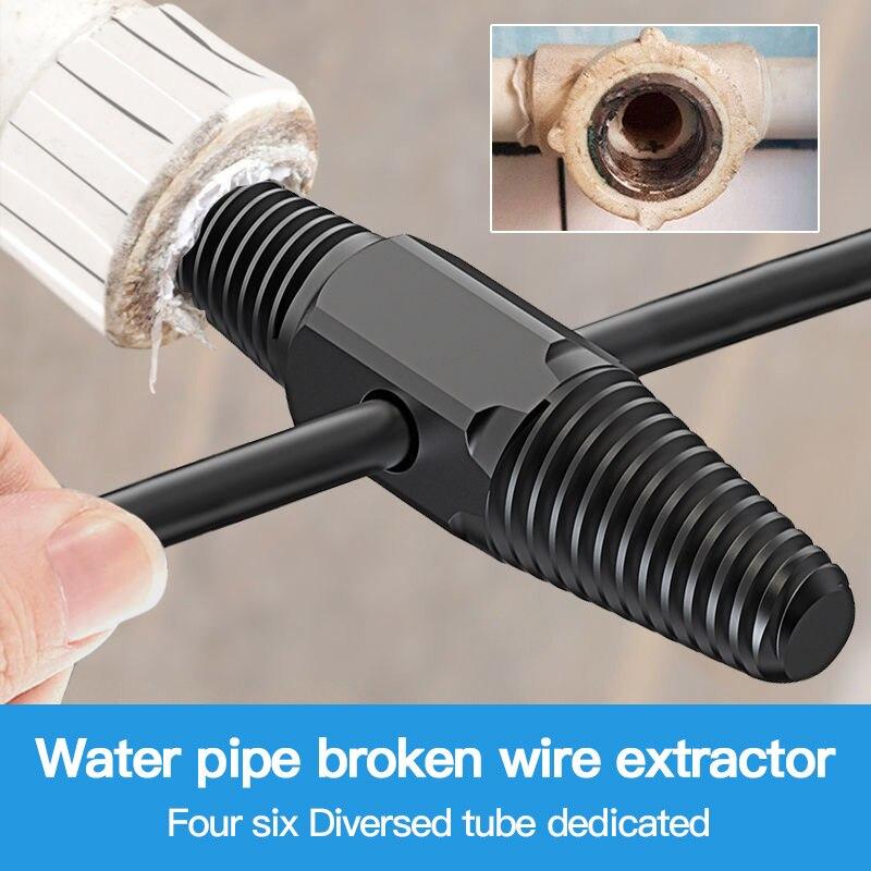 Винтовой экстрактор для крана с клапаном крана с двойной головкой, болт для удаления поврежденной проволоки воды для трубы, многофункциона...