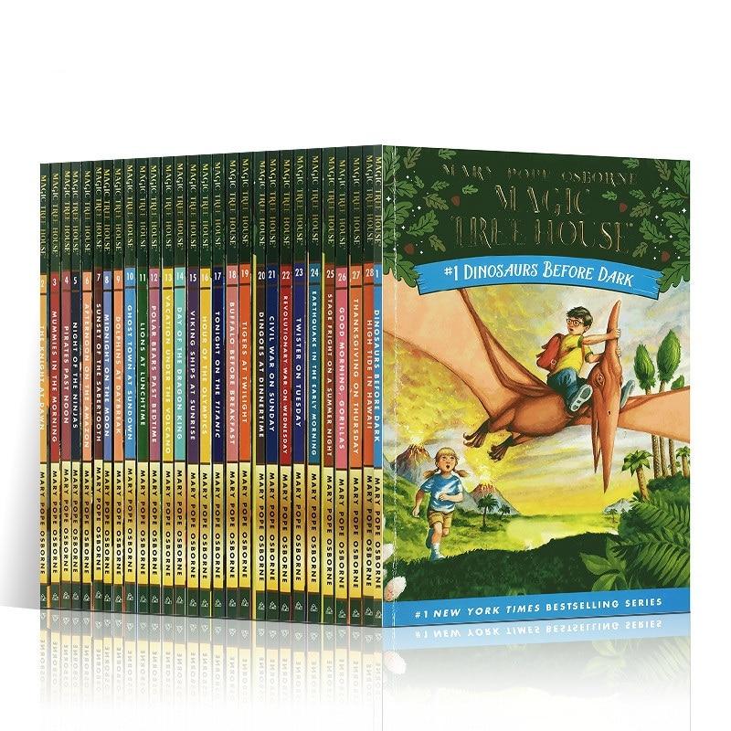 28 Books/Set Magic Tree House 1-28 English Reading Books Children's English Chapter Bridge Book Story Education Pocket Read Gift english house пиджак
