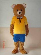 Usine vente directe ours jaune t-shirt mascotte Costume adulte Halloween fête danniversaire dessin animé vêtements Cosplay Costumes