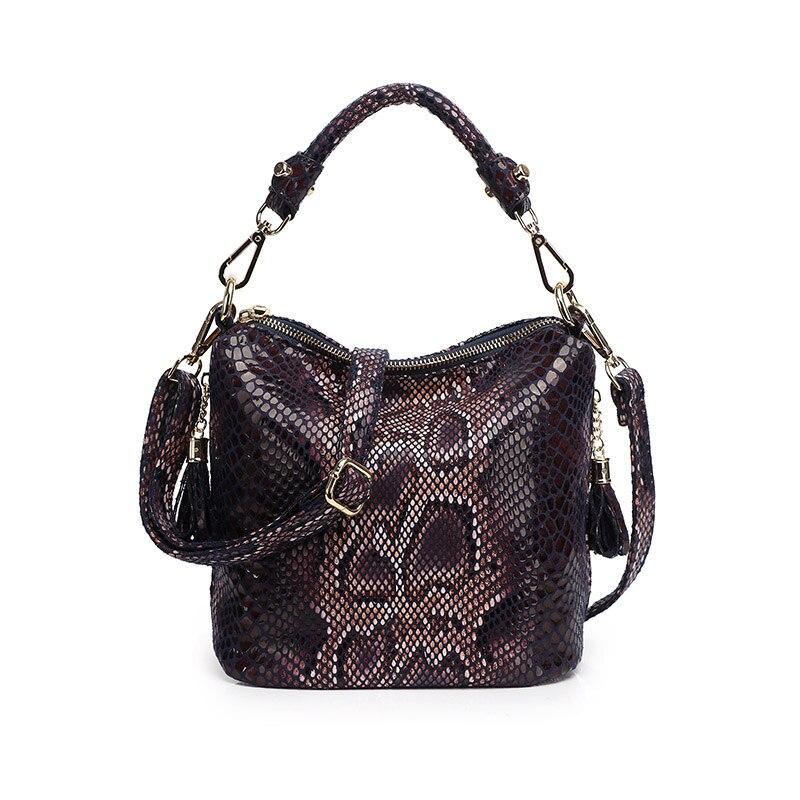 ¡Moda 2020! Bolso de lujo de diseñador para mujer, nuevo bolso cruzado de cuero PU de alta calidad, patrón de serpentina, bandolera de hombro