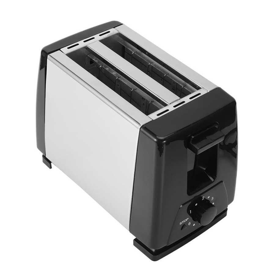2 Slices Automatic Bread Toaster 750W 6 Gears Fast Heating Bread Baking Breakfast Machine EU Plug 220-240V