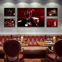 Moderne mode Art soleil vin affiche Art impression vin toile peinture salle photo Restaurant maison mur Art chambre decoration
