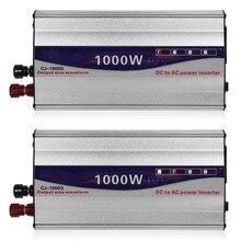 1 ensemble LED affichage 1000W onde sinusoïdale Pure onduleur 12V/ 24V à 220V convertisseur transformateur onduleur