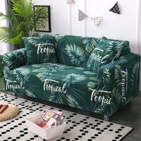 tropical leaves and flowers printed flexible sofa cover all inclusive slipcover stretch sofa covers for living room 1234 seat