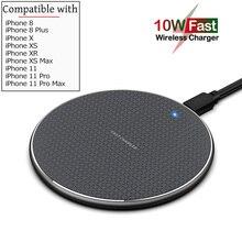 Qi 10 Вт 7,5 Вт быстрая Беспроводная зарядка для Apple iPhone SE2 SE 2020 11 Pro Max X XR XS Max Беспроводное зарядное устройство для iPhone 8 Plus