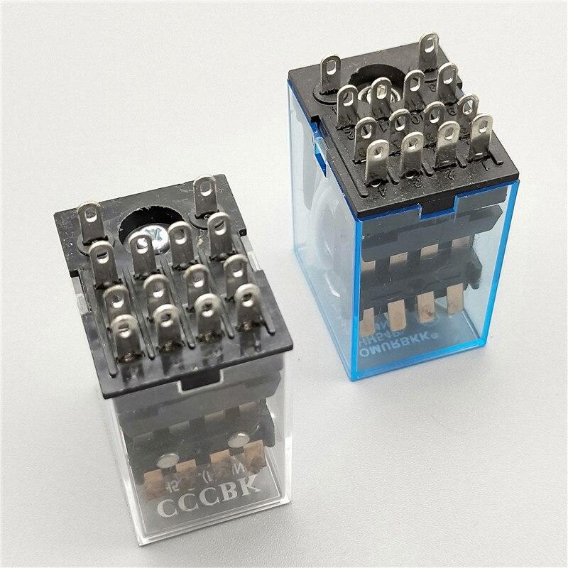 Bobina MY4NJ DC12V DC24V AC110V AC220V HH54P 5A 220V Propósito Geral Relé Eletromagnético Miniatura