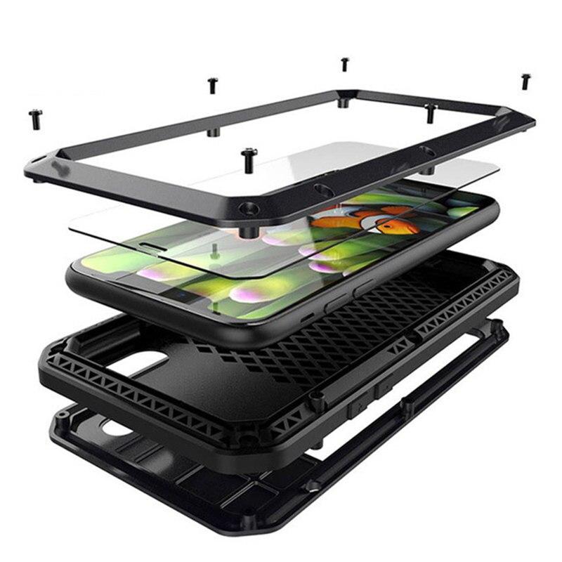 Doom armor Metal Aluminum phone Case for iPhone 11 XS MAX XR X 6 6S 7 8 Plus 5S SE 5 Full Body Cover Shockproof Fundas Case
