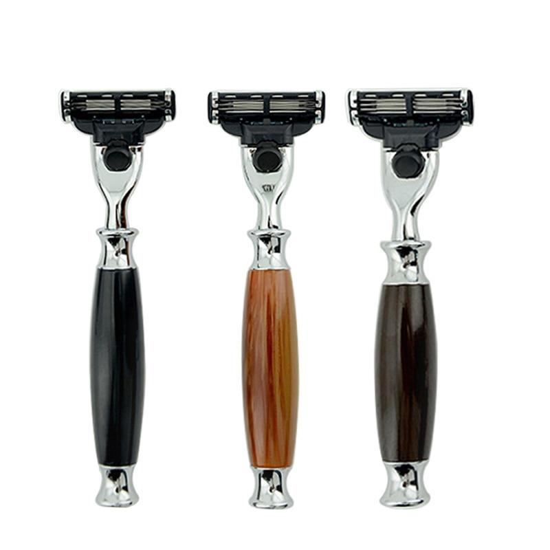 Men 's Manual Razor Handles for Mach 3 Razor Blades New Crafts  Wooden Made Knife Holder Shaver Shaving Beard Just Razor Holder