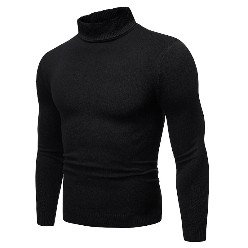 Autumn And Winter New Style Men's Fashion Twisting Collar Solid Color Sweater Versatile Multi-Color Half-Turtle-Neck