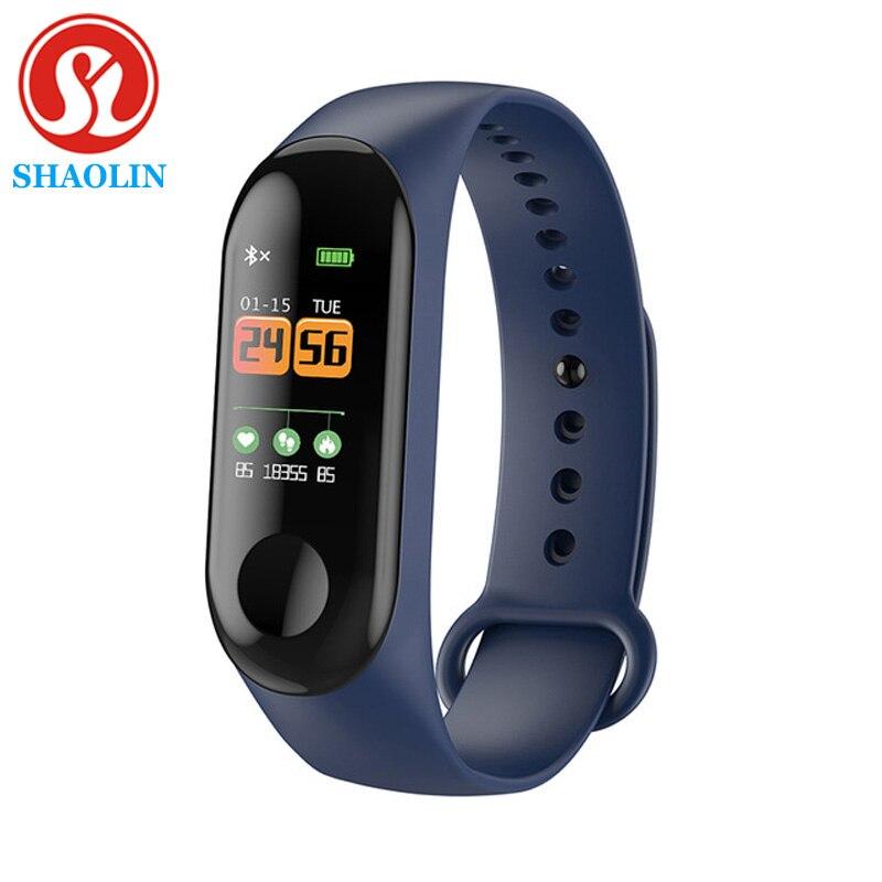 SHAOLIN Sport Smart Wristband Blood Pressure Heart Rate Monitor Smart Watch Fitness Tracker Pedometer Band Men Women