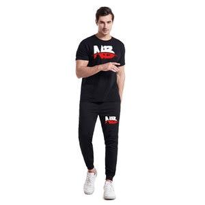 Новинка 2021, повседневный костюм из футболки, летний комплект из двух предметов, Свитшот или спортивный костюм для мужчин и женщин