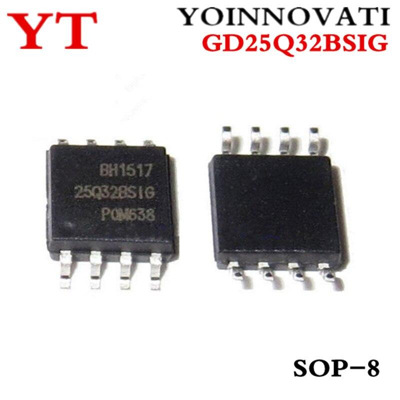 5 pçs/lote GD25Q32BSIG GD25Q32 25Q32BSIG SOP-8 IC Melhor qualidade
