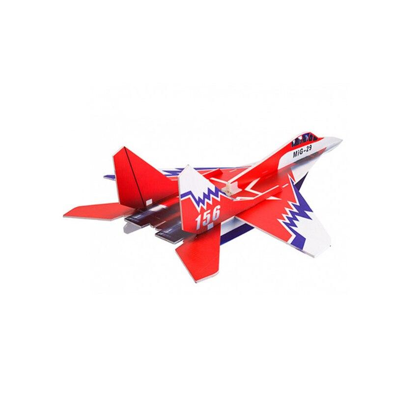 Mig-29 650mm Wingspan pegamento n-go Foamboard Red EPP Control remoto Kit de avión de Control remoto juguetes para niños regalos