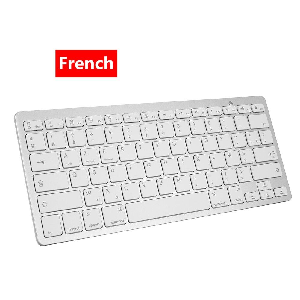 X5 الفرنسية بلوتوث متوافق مع لوحة المفاتيح رقيقة جدا لوحة المفاتيح اللاسلكية ل IOS أندرويد مايكروسوفت