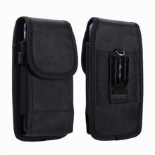 Universal Clip de cinturón bolsa para iPhone Samsung Huawei Xiaomi para paquete de la cintura bolsa para 3,5-6,3 pulgadas teléfonos móviles nylon funda