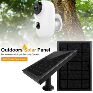 5W 1A Camera Solar Panel Charger Kit With Bracket Waterproof Solar Panel For Battery Camera Refrigerator 3 meters line