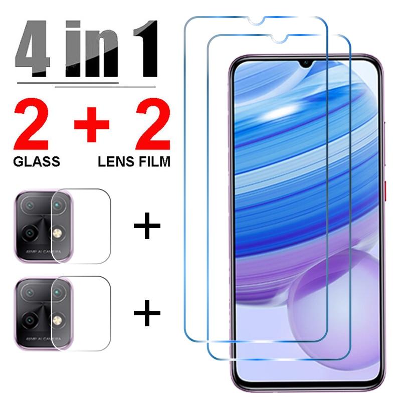 Cristal templado 4 en 1 para Redmi Nota 9 Pro 8 Pro 9S 8T película protectora de pantalla lente de cámara es Xiaomi Redmi