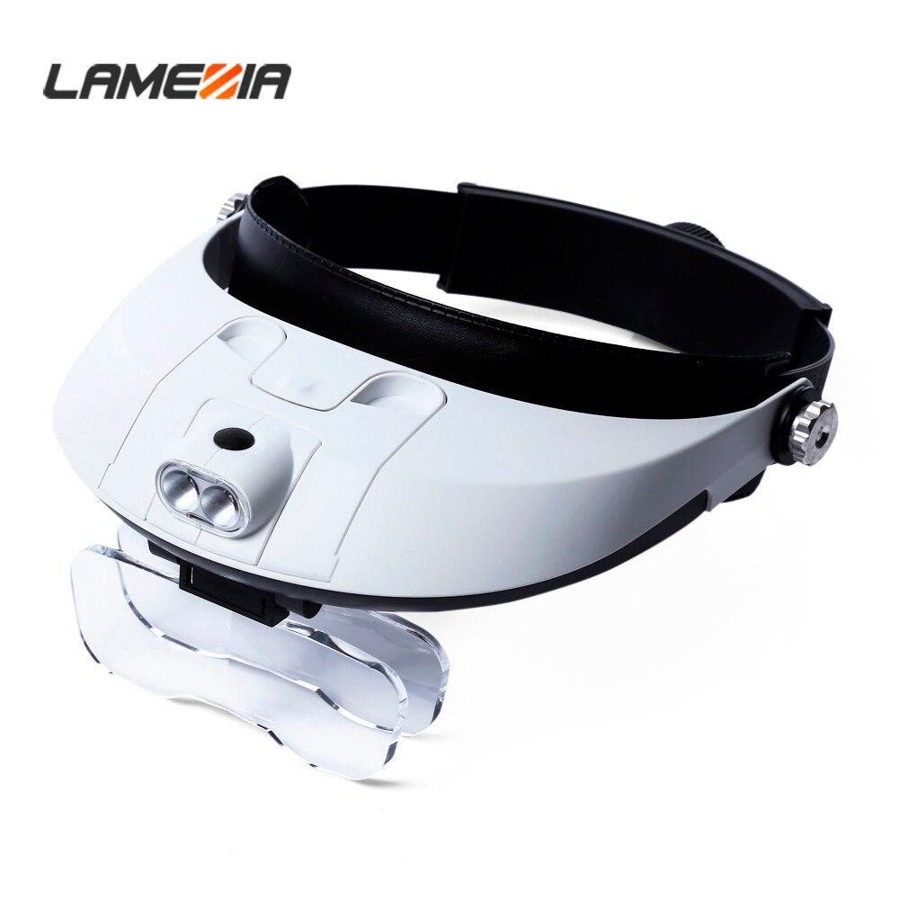 LAMEZIA 5 сменная оголовье для объектива с подсветкой увеличительная Лупа с креплением на голову увеличительная лупа со съемным светодиодный