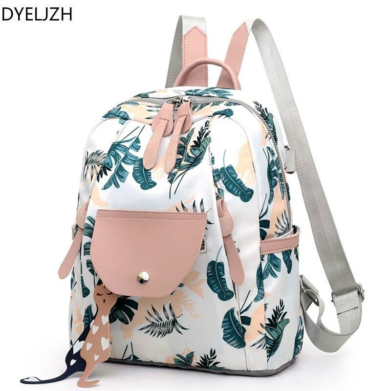 Women Backpack Flower Print School Backpacks for Teenage Girls 2019 Nylon Backpacks Lady Daily Travel Anti-theft Women Backpack