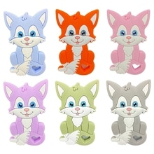 Baby Cartoon Animal Shape Silicone Beads Teether DIY Chewable Molar Soother Toy A2UB