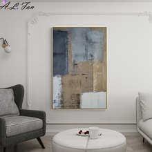 Настенные картины в скандинавском стиле, настенные постеры черного, белого, серого цветов, с абстрактными линиями, для гостиной, Современны...