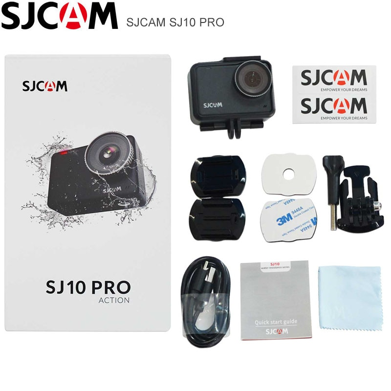 SJCAM SJ10 PRO Action Camera WiFi 4K@60FPS Ambarella H22 2.33 inch IPS TOUCH Screen Gyro EIS Supersmooth Ultra HD Sports Camera