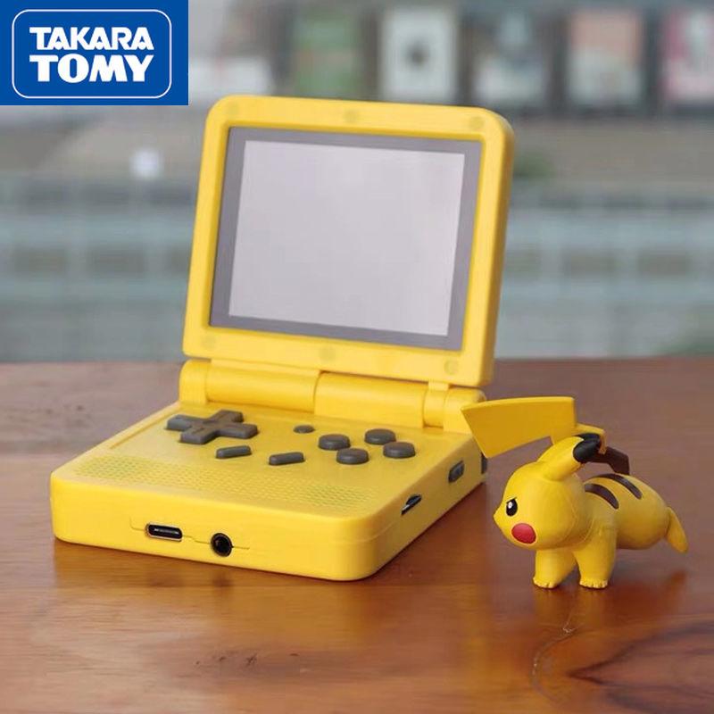 Игровая консоль TAKARA TOMY Pokemon в стиле ретро с открытым исходным кодом, портативная Портативная Складная игровая консоль с IPS экраном