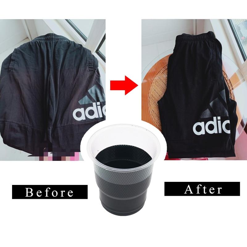 Краска для ткани 20 г, краска черного цвета для окрашивания одежды, краска для обновления одежды