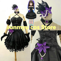 THE IDOLM@STER CINDERELLA GIRLS Shibuya Rin Triad Primus Black Dress Cosplay Costume Custom Size Halloween