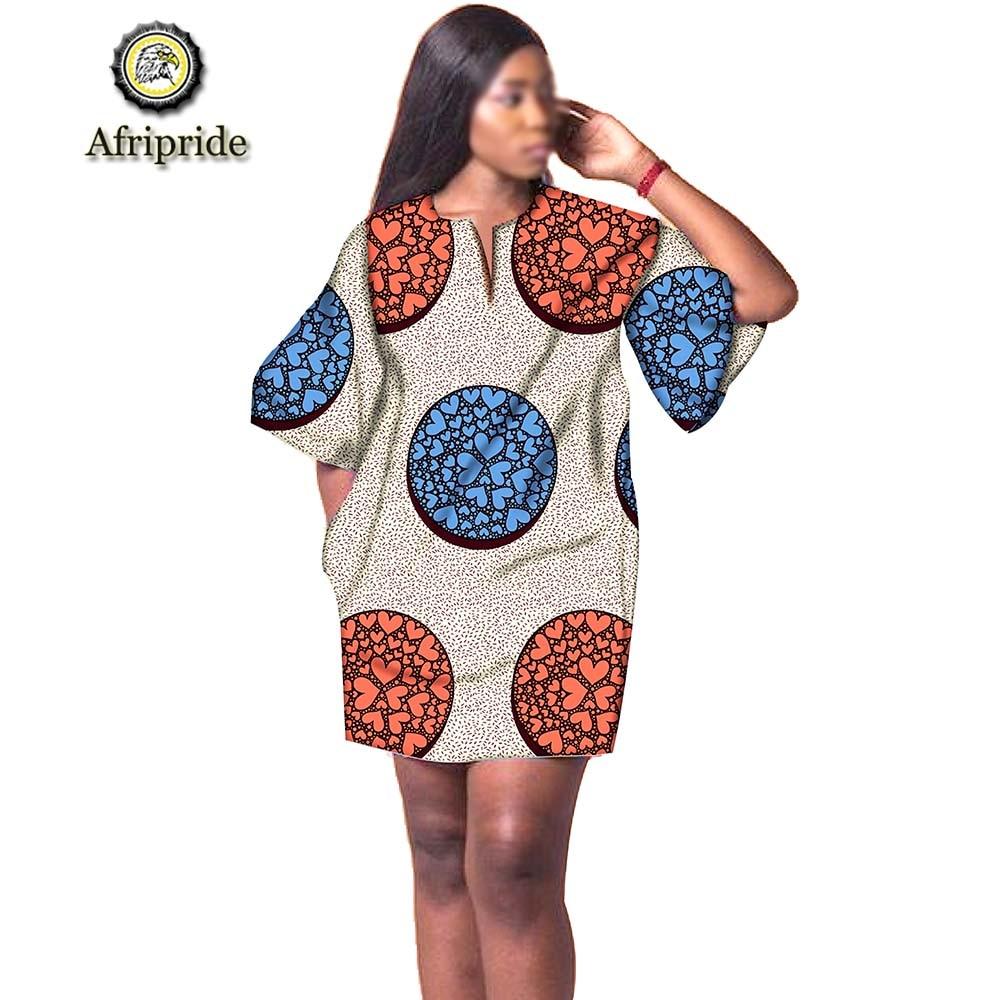 2019 vestidos africanos para as mulheres design de moda novo africano bazin bordado design vestido mini vestido plus size afripride s1925041