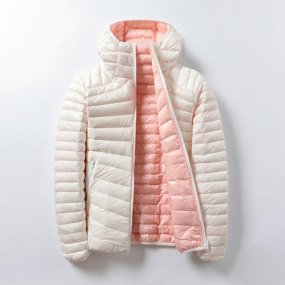 Inverno feminino casacos quentes ultra leve 2020 outono jaquetas casuais dupla face reversível parkes plus size feminino outwear 3xl