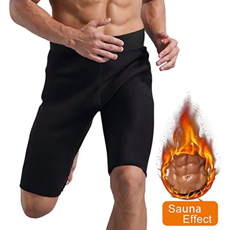 Men Sweat Sauna Pants Thermo Slimming Thigh Shaper Tummy Control Shorts High Waist Slimming Underwea