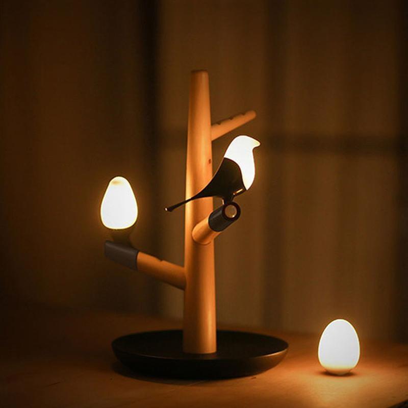 Novelty Light Bird and Eggs Night Light Intelligent Induction LED Desk Lamp USB Charger LED Light for Home Decor Birthday Gifts enlarge