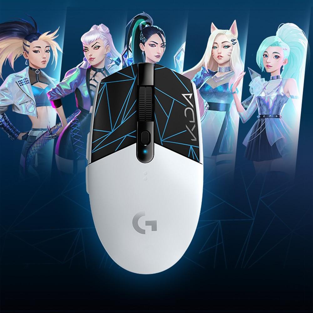 لوجيتك G304 2.4GHz ماوس لاسلكي ألعاب الألعاب ماوس بطل الاستشعار 12000 ديسيبل متوحد الخواص كدا ماوس الوسادة كمبيوتر محمول مكتب الفئران ل ويندوز ماك