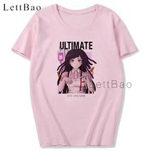 Mikan Tsumiki Danganronpa Anime Women T Shirt Casual Japanese Pink Tshirt Aesthetic T-shirt O-Neck Graphic Tees Women Fashion