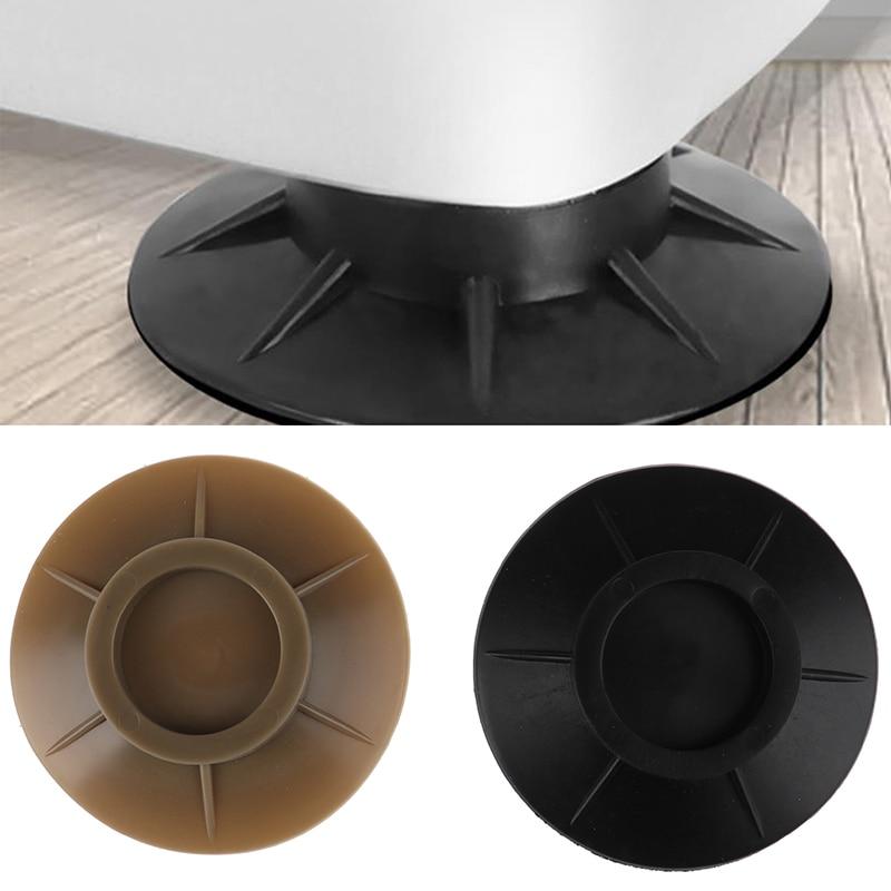 4Pcs Pulsator washing machine round base Kitchen home refrigerator air conditioning non-slip mat Anti Vibration Rubber Feet Pads