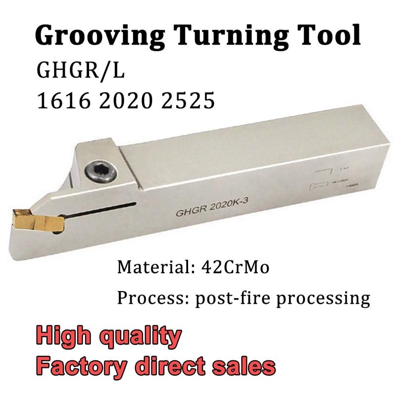 GHGR GHGL 1616 2020 2525 الأبيض الحز تحول أداة حامل عالية الجودة أداة قطع CNC عدة المخرطة لإدراج GIP كربيد