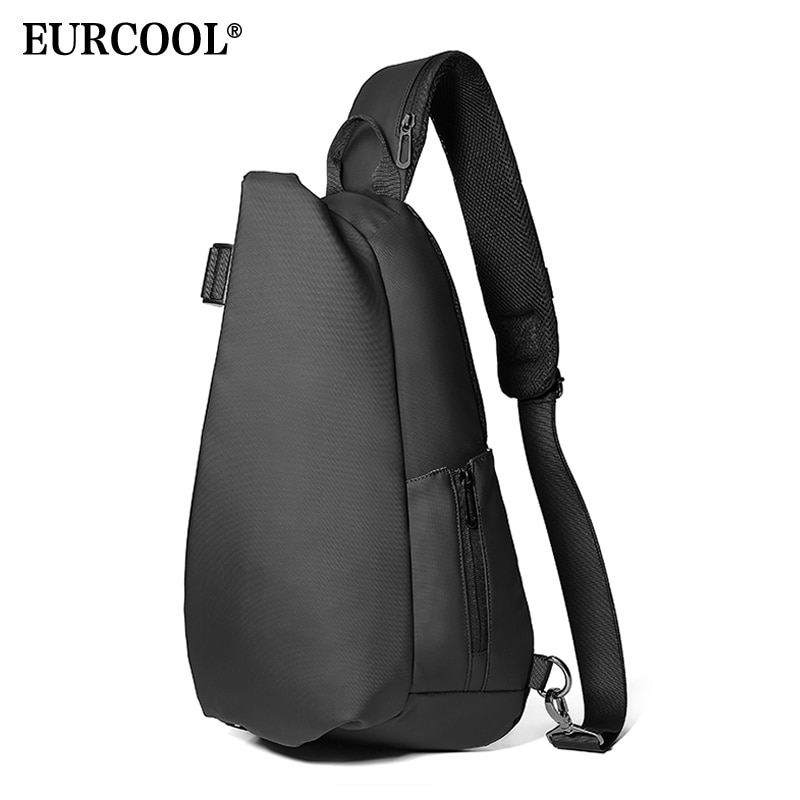 multifunction small backpack crossbody bag waterproof men chest bag 11 inch laptop ipad shoulder bag men s chest pack EURCOOL Men Chest Bag For 12 Inch Ipad Multifunction Crossbody Bags USB Charging Travel Shoulder Bag Water Repellent n1850
