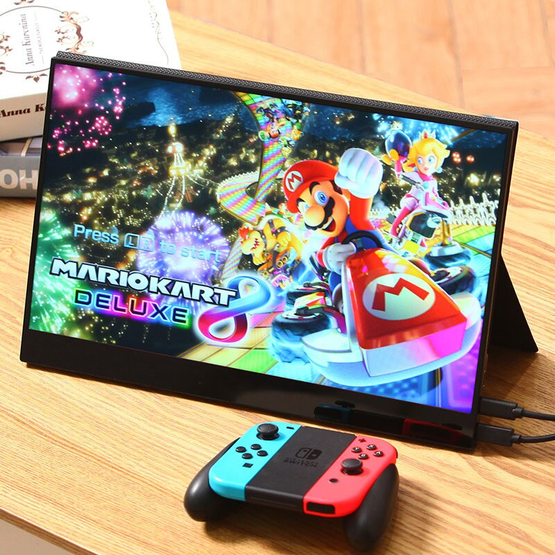 شاشة محمولة 17.3 بوصة شاشة 4K للكمبيوتر المحمول PS4