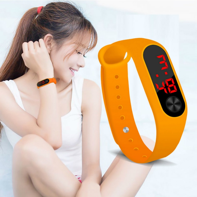 Reloj de pulsera LED de silicona para niños, reloj electrónico impermeable para niños, reloj de papelería para estudiantes, reloj Digital para niños y niñas #3