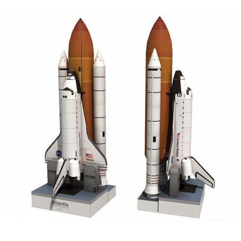 1:150 nave espacial Atlantis espacio cohete DIY 3D Tarjeta de papel modelo de construcción conjunto juguetes educativos modelo militar construcción juguete