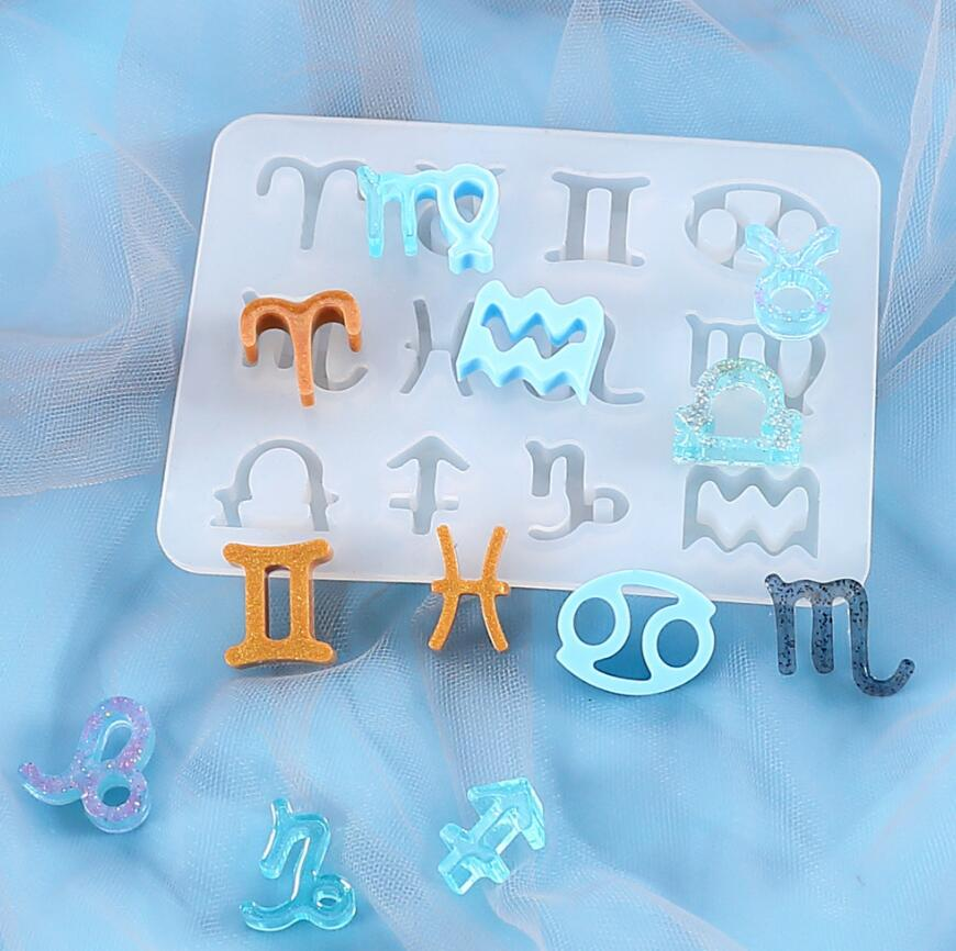 AliExpress - 12 Horoscopes Silicone Casting Molds Jewelry Tools For DIY Resin Horoscopes Pendants Keychain Uv Epoxy Art Craft Handmade Making