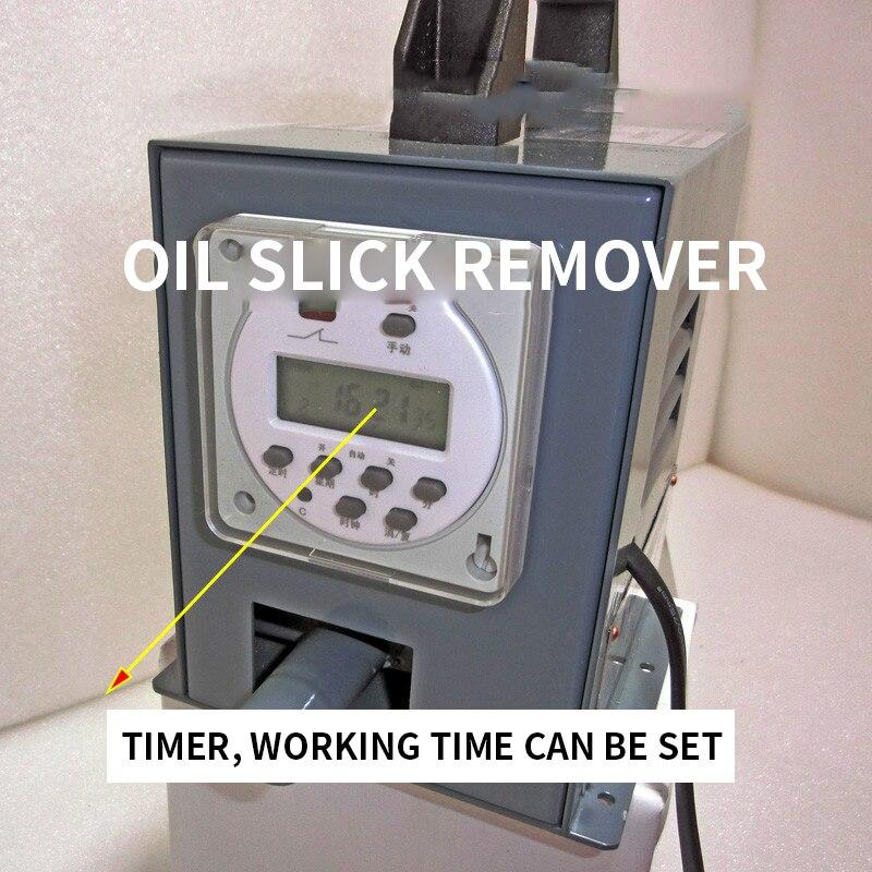 Oil Removal Capacity 13L/H Mini Oil Skimmer Steel Belt Oil Scraper Floating Oil Removal Machine DN-50T Belt Oil-water Separator